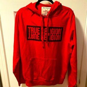 NEW True Religion Red Logo Men's Hoodie
